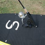 Fishing SUP front position Scotty&#039;s Quickdraw Rod Holder
