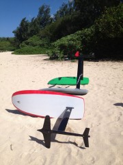 Foilboards on beach